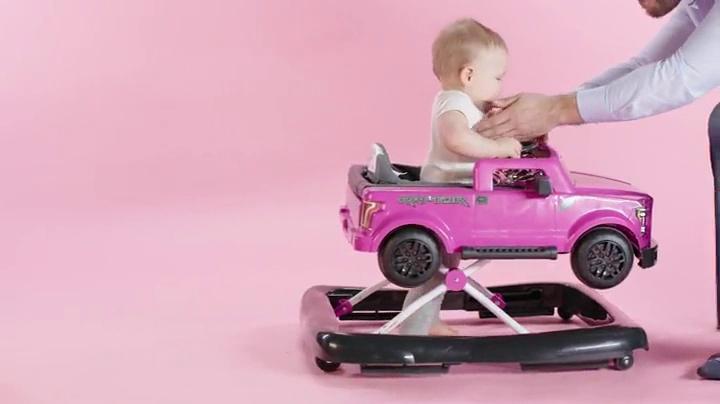 pink Bright Starts 3 in 1 Lauflernhilfe Ford F-150 Raptor