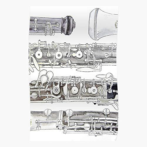 Cañas de viento de madera doble banda instrumento orquesta música oboe Reed decoración del hogar arte de pared impresión póster