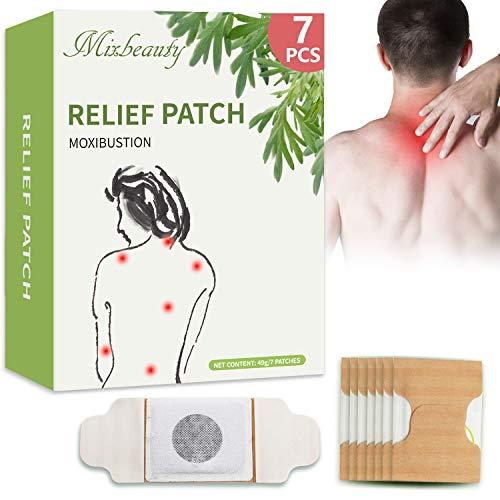 7 Pcs Pain Relief Patch for Back Pain 7 Pack, Heat Pads for Pain Relief of Neck Shoulder Knee and Other Joints