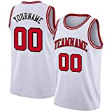Custom Athletic Basketball Jerseys- Blank Team Uniforms-Tank Top for Men/Youth White-red-Black
