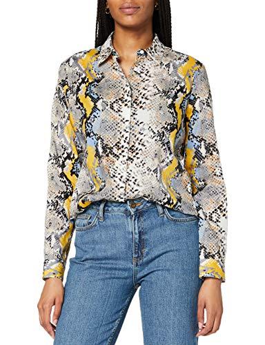 BRAX Damen Style Victoria Hemdkragen Bluse, Dove Blue, 38