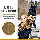 OneTigris Tactical Dog Molle Vest Harness Training Dog Vest with Detachable Pouches (Tan, X-Large) #2