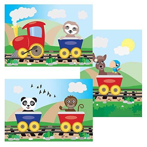 PRICARO Poster'Abenteuerreise', A4, 3er Set