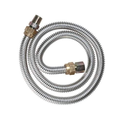 Dormont 20-3132-24B Gas Dryer 1/2-Inch Diameter Connector, 24-Inch Length