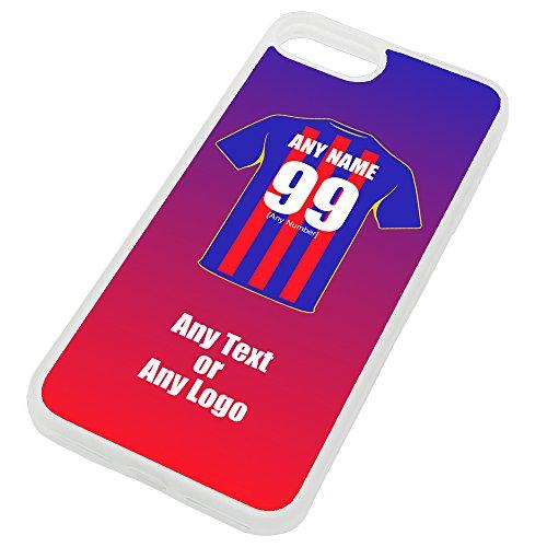 UNIGIFT - Carcasa para iPhone con diseño de fútbol (poliuretano termoplástico), diseño de escudo de los Eagles Glaziers Club, TPU, transparente, iPhone 8 Plus / 7 Plus