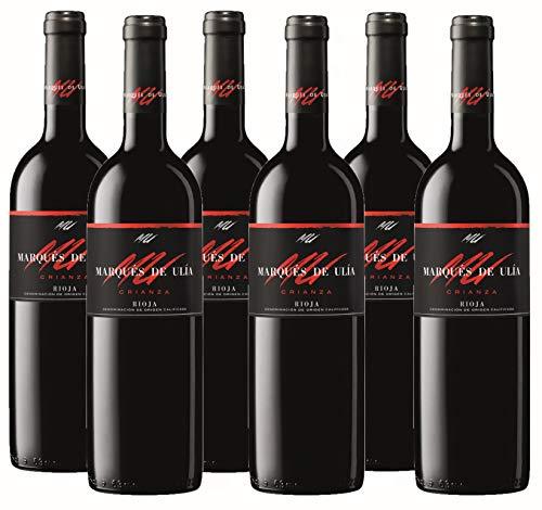 Vino Tinto Marqués de Ulia Crianza (D.O.Ca. Rioja) - 6 botellas de 750 ml - Total: 4500 ml