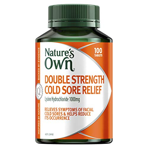 Nature's Own Double Strength Cold Sore Relief - Relieves Symptoms and Helps Reduce Occurrence of Facial Cold Sores, 100 Tablets