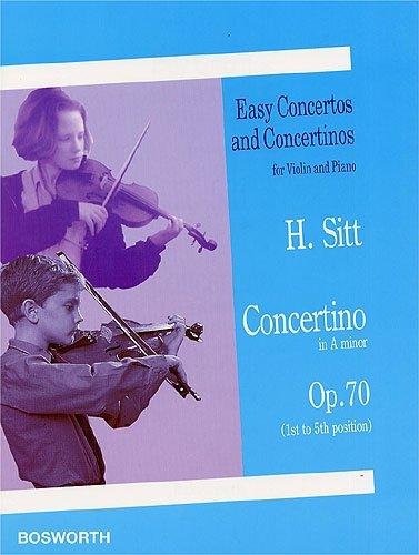 SITT - Concertino Op.70 en La menor (1ª a 5ª Posiciones) para Violin y Piano