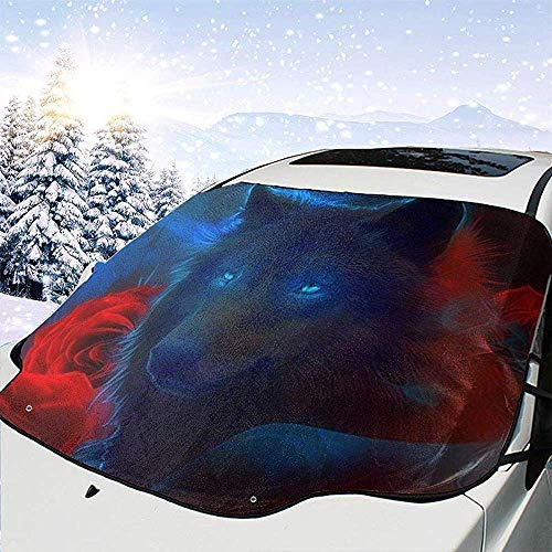 Hiram Cotton Car Sunshade Naturaleza Animales Vida Silvestre Osos Coche Parabrisas Cubierta De Protección Solar Frente Agua Luz del Sol Cubierta De Nieve