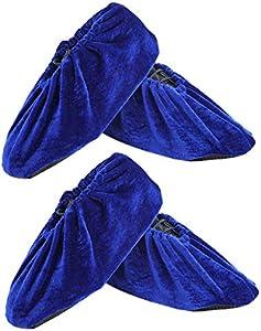 CHRISLZ Zapatillas de franela de 2 pares Lavables Reutilizables Zapatillas antideslizantes Elasticidad Conveniencia Almohadillas a prueba de polvo para el hogar