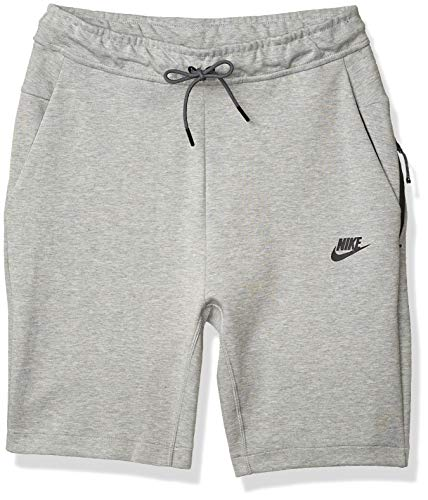 NIKE Sportswear Tech Fleece Men's Fleece Shorts (Dark Grey Heather/Dark Grey/Black, Medium)