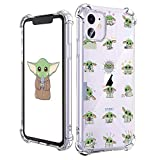 oqpa for iPhone 12/12 Pro Case Cartoon Character Funny Cute Fun TPU Design Cover for Girls Men Women Teen, Fashion Cool Unique Aesthetic Clear Cases Small Yuda Baby (for iPhone 12/12 Pro 6.1')