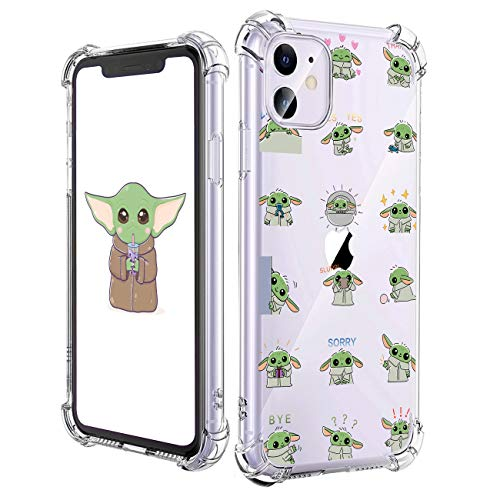 oqpa for iPhone 12 Mini Case Cartoon Character Funny Cute Fun TPU Design Cover for Girls Men Women Teen, Fashion Cool Unique Anime Aesthetic Clear Cases Small Yuda Baby (for iPhone 12 Mini 5.4')