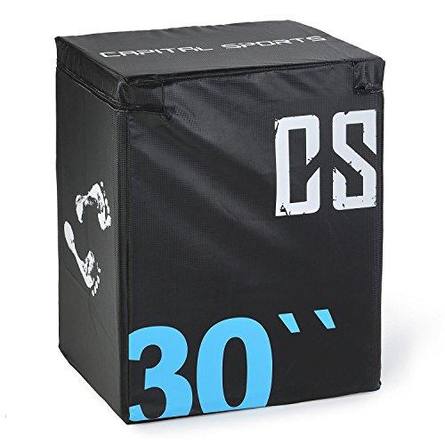 Capital Sports Rooko - Soft Jump Box avec Rembourrage en Mousse et revêtement Vinyle pour Entrainement pliométrique - 76cm