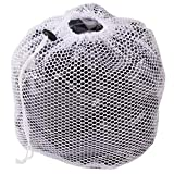Premium Fine Mesh Laundry Bag - Sturdy White Mesh Material with Drawstring Closure. Ideal Machine Washable Mesh Laundry Bag for Factories, College, Dorm and Apartment Dwellers - (Large, 20 x 28')