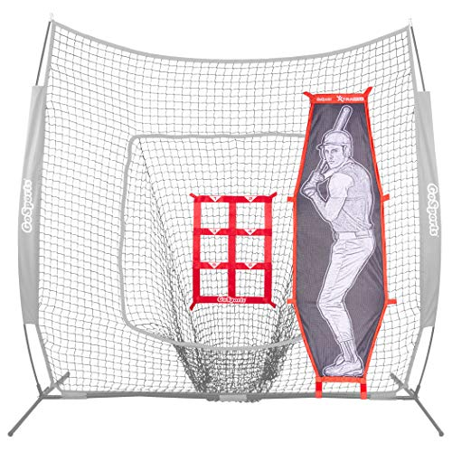 GoSports Baseball & Softball Pitching Kit - Practice Accuracy Training with Strike Zone & Xtraman Dummy Batter