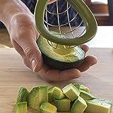 lejia Acero Inoxidable Aguacate máquina de Cortar de Corer Shea Butter Fruta del Cortador de Peeler Pulp Separador Utensilios de Cocina Vegetales Aguacate Cortador 1pc (Color : Light Green)