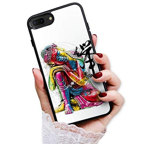 for iPhone 8 Plus, iPhone 7 Plus, Art Design Soft Back Case Phone Cover, HOT12063 Buddha
