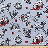 Comfy (R) Flannel Print Dalmatians Fabric by the Yard