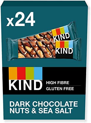 KIND Bars, Healthy Gluten Free & Low Calorie Snack Bars, Dark Chocolate Nuts & Sea Salt, 24 Bars