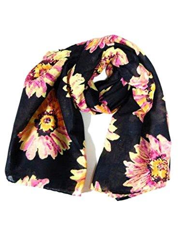 Armardi b Serviette motif floral noir
