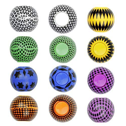 Entervending Fidget Spinners - Stress Relief Fidget Toys for Adults and Kids - Fidget Spinner Balls in Bulk 6 pcs