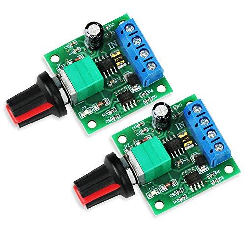 WayinTop 2Stücke PWM Motor Drehzahlsteller DC 1,8V 3V 5V 6V 12V 2A 1803BK Einstellbarer Geschwindigkeitsregler Niederspannungs Steuerungsmodul Kontroller mit Knopf