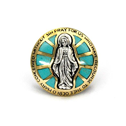 コンチョ シルバー925 ネジ式 パーツ ボタン カスタム 聖母マリア ブラス ターコイズ インレイ