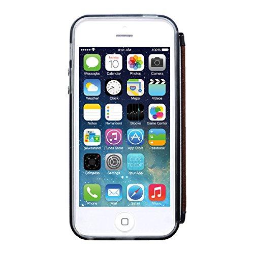 iPnoneSE iPhone5s iPhone5 落下防止ケース みみずくソフト (ブラッククリア) アイフォンSE アイフォン5S ...