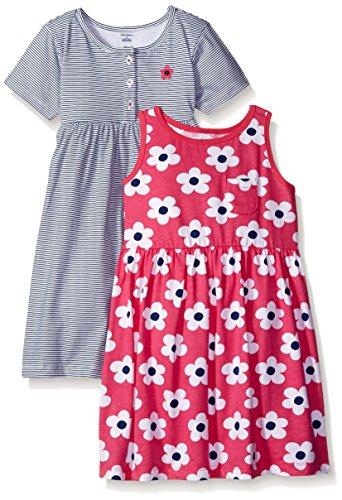 Gerber Little Girls' Toddler Two-Piece Dress Set, Big Flowers/Exclusive, 5T