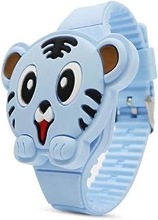 Orologio Bambino ZWRY Orologio in silicone regalo unisex bambini flip cover play studente led orologio elettronico