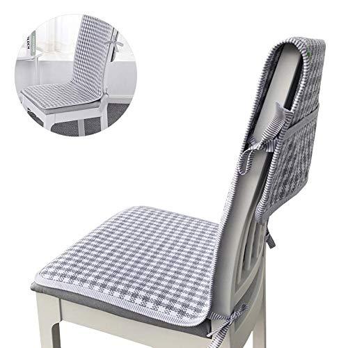 爽やかなチェアカバー庭風椅子カバーダイニングチェア居心地よく便利な収納ポケット付きリクライニングカバー座面+背部用オフィス家庭用専業主婦
