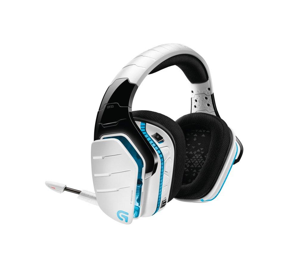 Auriculares con micr/ófono para Gaming Logitech G933 Artemis Spectrum Xbox One y PS4 Sonido Envolvente Profesional 7.1 y tecnolog/ía inal/ámbrica de 2,4 GHz para PC Blanco