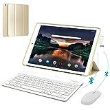 4G Tablette Tactile 10 Pouces IPS/HD 3Go RAM 32Go ROM Android 9.0 Quad Core Tablet PC Batterie 8500mAh Tablette 4G Double SIM 8MP Caméra Tablette Pas Cher Portable Débloqué(Or)