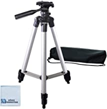 50 Inch Aluminum Camera Tripod for Canon, Nikon, Sony, Samsung, Olympus, Panasonic & Pentax + eCost Microfiber