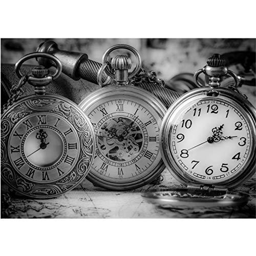 Vlies Fototapete PREMIUM PLUS Wand Foto Tapete Wand Bild Vliestapete - Uhren Zeit Taschenuhren - no. 1714, Größe:312x219cm Vlies