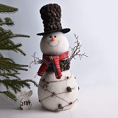 FENGJIAREN Estatuas,Estatuillas,Esculturas,Snowman Estatua Moda Navidad Creativa Animales Arte Escultura Artesanía Flocado De Espuma En La Decoración del Hogar