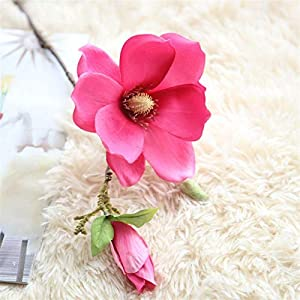 TRRT Fake Plants Artificial Silk Flowers Orchid Magnolia Flowers, for Home Wedding Decoration Fake Flower