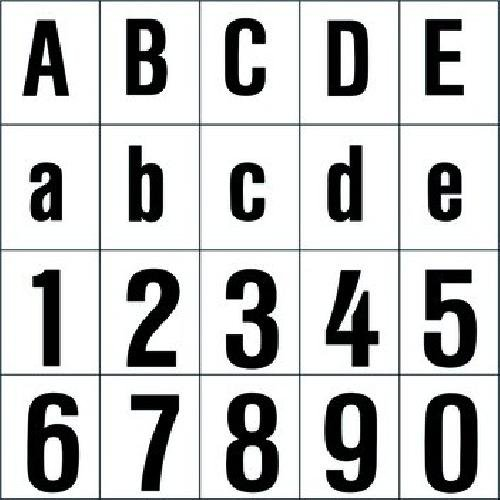 RZB Zimmermann Ziffer sw 120mm 99223.013.1 f.d.superflache HNL Beschriftung für Hausnummernleuchte 4010319325516