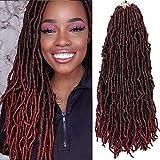 FASHION BINGO Locs Crochet Hair 6 Bundles Faux Locs Crochet Hair Synthetic Natural Wavy 24 Inch Goddess Locs Crochet Dreadlock Extensions Hair Twist Braids(TBUG# 24')