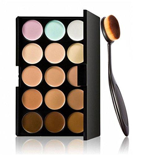 Italily - Make up Curve Foundation Brush + 15 Colori Concealer Cosmetico di Trucco Fard