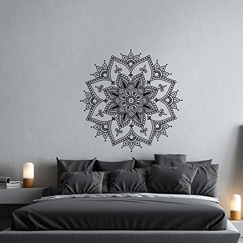 cooldeerydm Mandala muursticker van vinyl voor slaapkamer, meditatie, wal, kunst, yoga, studio, decoratie, mandala, wandlamp, bohemian, bohemian, wanddecoratie mandala A12 011
