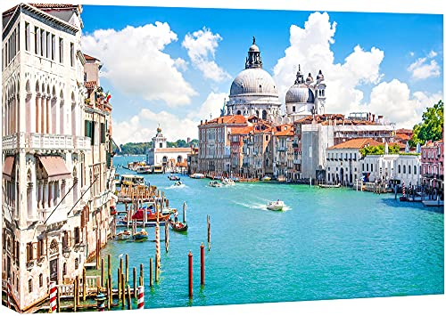 """Canvas Prints Wall Art - Beautiful Landscape/Scenery Grand Canal with Basilica Di Santa Maria Della Salute, Venice, Italy 