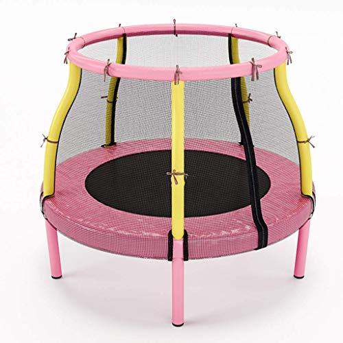 PNFP roze trampoline voor meisje - springtafel met veiligheidsnet behuizing, tuin buiten, ondersteuning 100kg