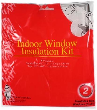2pk 3x5ft Window Insulation Shrinkwrap Kit