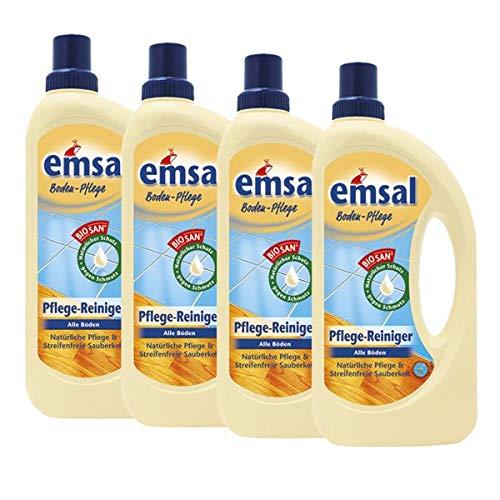 4x emsal Boden-Pflege Pflege Reiniger 1 Liter mit Biosan - Natürliche Pflege