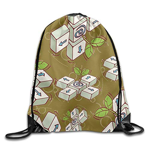 ZHIZIQIU Funny Keyboard Unisex Waterproof Backpack Gym Drawstring Bags.