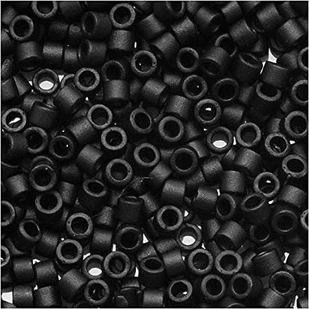 DB-11-301 Matte Gunmetal 5 grams Miyuki\u00ae Delica Japanese Glass Seed Beads size: 110