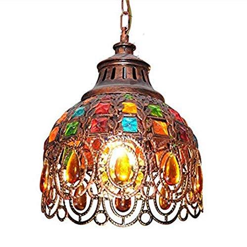 MAZI Sospensione Bohemia marocchina, Turca lampadario di Cristallo Multicolore Lampada Tiffany soffitto dello Schermo di Soggiorno Sala da Pranzo Arredamento della Camera da Cucina Appeso E27