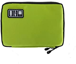 Multi-Functional Digital Storage Bag Traval Cable Organizer Bag Data Cable Charger Cable Electronic Storage Bag Electronic Accessories Carry Case 1pc Green